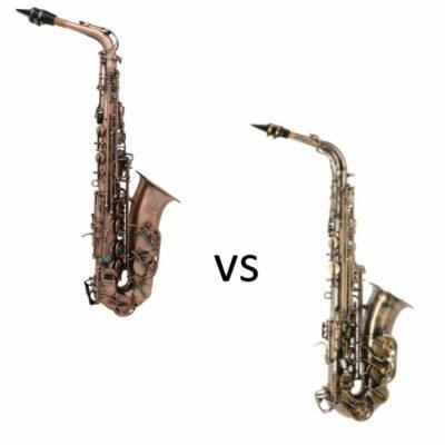 Saxofón alto Ammoon Red Bend Bronce VS Saxofón Alto Thomann Antique
