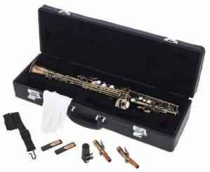 Saxofon soprano Thomann antique accesorios